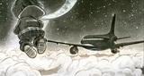 volando entre las nubes